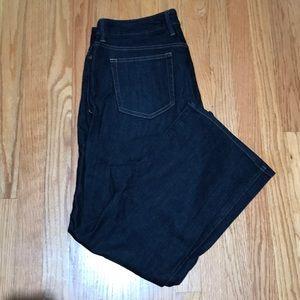 NWOT Eddie Bauer dark blue jeans size 14P